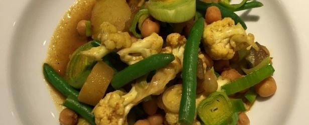Indisk karryret | Krydret mad opskrift med karry og grøntsager