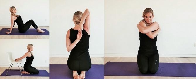 skulder øvelser, yogastræk