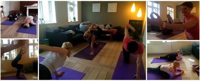 yoga på stuegulvet