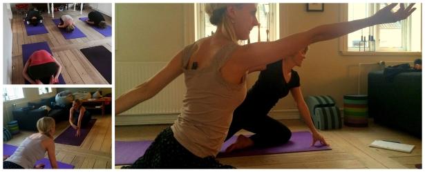 yoga hjemme i stuen