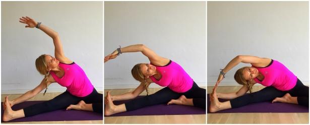 siddende sidebøjning, yoga, stræk