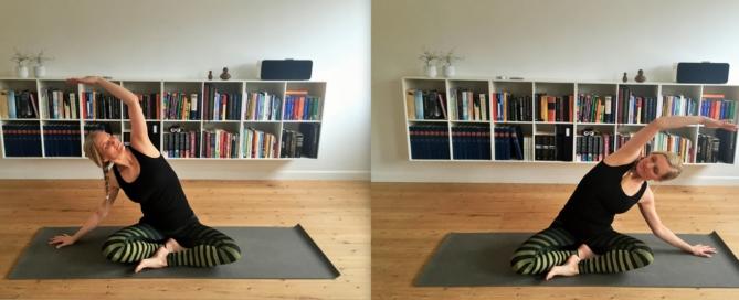 skrædderstilling, yoga
