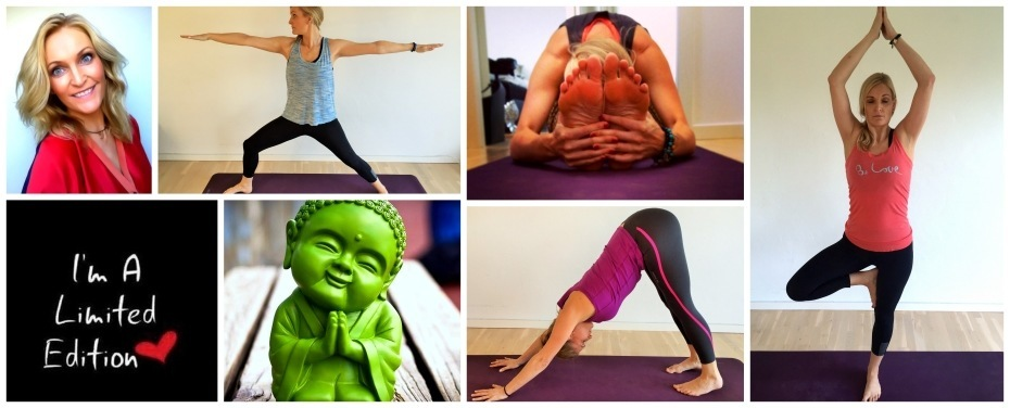 collage af yogakvinde