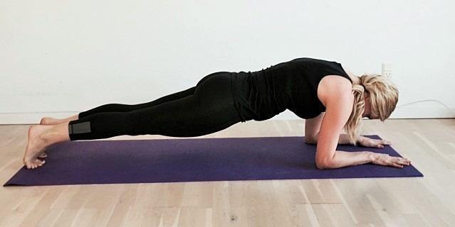 Yoga styrkeøvelse, planken