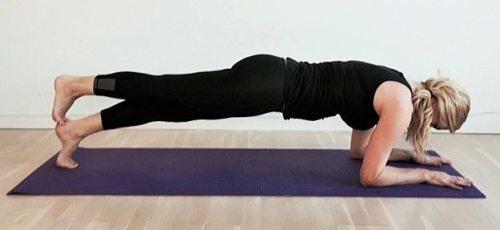 Yoga styrkeøvelser, planken