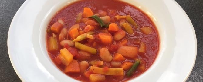 bønnesuppe, vegetar, grøntsagssuppe
