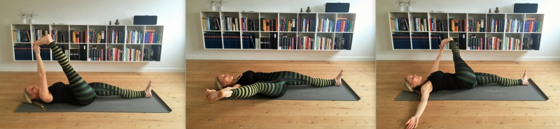 liggende benstræk, yoga