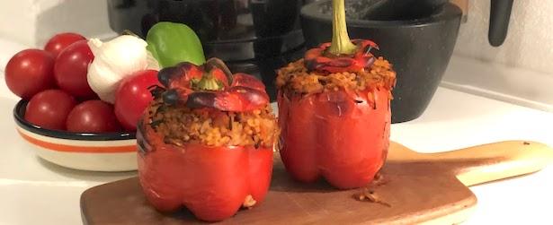 fyldt peberfrugt vegetar