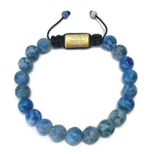 Blå agat armbånd