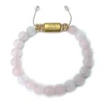 Rosenkvarts smykker 8mm guld