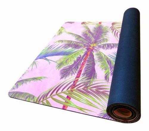 yogamåtte med palme mønster